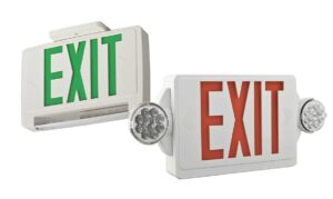 Acuity emergency LED exit signs and lighting