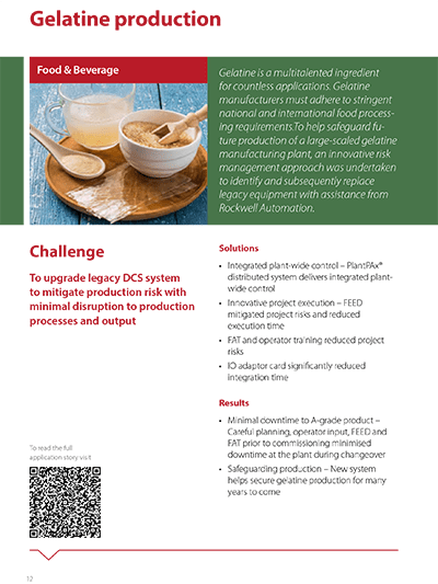 Digital Transformation Case Study Gelatine Production