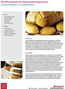 PlantPAx for Bakery brochure