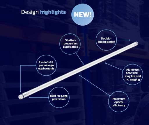 MainsFit LED T8 design highlights