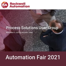 Automation Fair 2021 Process Solutions User Group