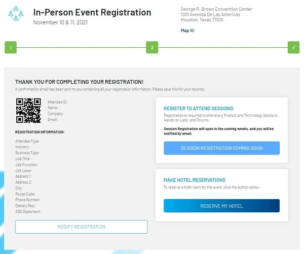 Automation Fair 2021 Registration Page 3